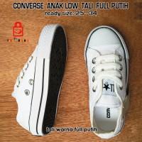 harga Sepatu Sneaker Converse Anak Low Full Putih Tokopedia.com