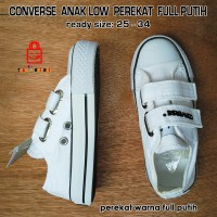 harga Sepatu Converse All Star Low Anak Perekat Full Putih Tokopedia.com