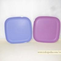 Tupperware Square Plate Large Set isi 2/ Breakfast Plate/ Piring Kue