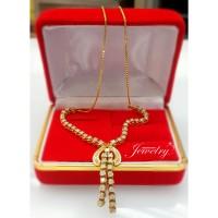 harga Termurah Kalung Berlian Natural Diamond Ring Emas Kuning 50% Tokopedia.com