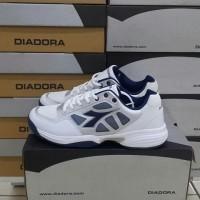 harga Sepatu Tenis Original Diadora Cooper Mens White Blue Tokopedia.com