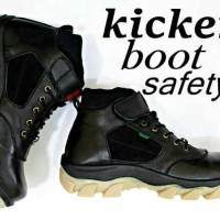 harga Salle!!! Sepatu Boot Pria Terlaris Kickers Prepet Safety Ujung Besi Tokopedia.com