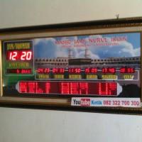 Jam Jadwal Waktu Sholat Digital +Jeda Iqomah + Alarm + Update otomatis