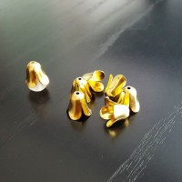 Gold flower end caps 11 x 13mm