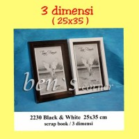 harga frame foto 3 dimensi/ scrap book uk.25x35 Tokopedia.com