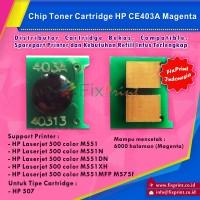Harga Chip Toner Cartidge HP CE403A 507 Magenta Printer HP Laserjet 500 | WIKIPRICE INDONESIA