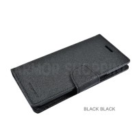Samsung S4 Mini Black Black Fancy Diary Goospery Cover Mercury Case