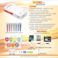 Power bank 5600Mah asli cell samsung 100%