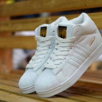 Sepatu Wanita Sneakers Adidas Super Star High Made In Vietnam Murah #2