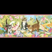Wallborder/ Wallpaper Dinding/ Tembok/ Roll Kucing Cat 12mx10cm