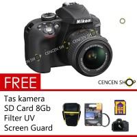 Nikon D3300 Kit Free + +     Kit 18-55mm VR II Lens 24.2MP