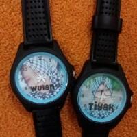 devar strip kombinasi jam custom bisa pakai nama, tanggal, gambar