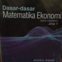 harga Dasar dasar Matematika Ekonomi Tokopedia.com