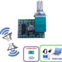AU-03 Mini Stereo Audio Amplifier 2x3W 5V PAM8403 with Switch Potentio