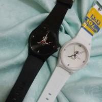 Jam tangan Q&Q rubber couple custom bisa pakai nama/tanggal/foto