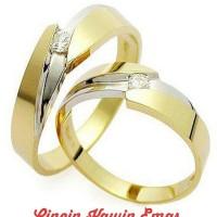 cincin pernikahan tunangan perak lapis