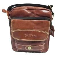 Tas vintage sling bag pria wanita selempang kulit asli kickers import