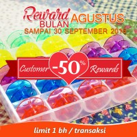 Customer Rewards - Bobbins/Spool Plastik Warna + Box Mesin Jahit