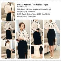 harga Setelan Baju Rok Span Panjang Kerja Kantor Wanita Korea Scarf Ab511857 Tokopedia.com