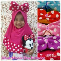 harga Jilbab Instan Anak - Polkadot Minnie Mouse Tokopedia.com