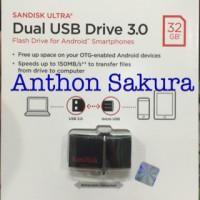 Jual SanDisk Ultra Dual USB Drive 3.0 OTG 32GB Garansi Resmi Original Murah