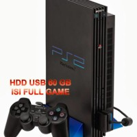 Paket Ps 2 Fat Tebal Seri 1 Multi Optik + Hdd 60 Gb Playstation Sony