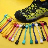 Tali Sepatu Elastis Dengan Lock Elastic Lock Lace Laces Lari Olahraga