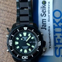 Seiko 5 SKZ255K1 Jam Tangan Pria SKZ255 K1 Black Diver 200M Automatic