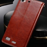 Lenovo Vibe X2 Leather Flip Book Cover Casing Case Kulit Sarung Elegan