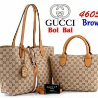 Tas Wanita Tas Gucci Bol Bal Canvas 4605