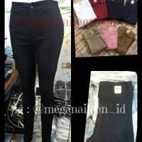 Celana Highwaist/ Celana Semi Jeans Miss Hotty / Celana Panjang Wanit