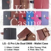 LG G Pro Lite Dual D686 - Flip Cover Wallet Case Casing Sarung