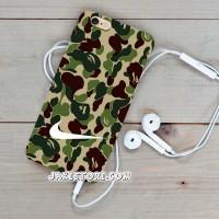 Nike Logo Camo Bape iPhone Hard Case 4 4s 5 5s 5c 6 6s Plus Cover