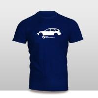 KAOS BAJU DISTRO MOBIL - KAOS MOBIL BMW Wagon Seri 3 SILUET