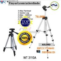 Tripod Stand 4 Section Untuk Dslr Dan Handphone - Weifeng Wt3110
