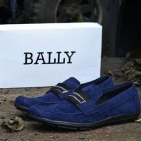 harga Sepatu Slop Bally Mocassin Suede Navy Tokopedia.com