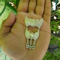 harga bros kebaya silver mini / bros timang murah Tokopedia.com