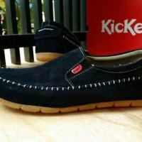 harga Sepatu Kickers Slop Kulit Suede Black Santai +original Hanmade Tokopedia.com