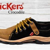 harga Sepatu Kickers Crocodile Hitam Coklat Kulit Suede +original Hanmade Tokopedia.com
