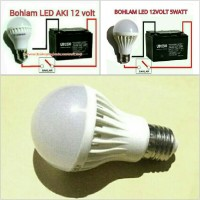 LED 12V / 5W LAMPU BOHLAM SOLAR CELL PANEL SURYA