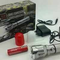 Jual Senter Cree 511 Tactical series with zoom 80.000w / 220.000 lumens Murah