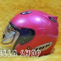 Real Foto Helm Basic Replika Ink Warna Pink Magenta kualitas KYT VOG