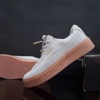 harga Sepatu Sport Casual Running Wanita Puma Rihanna Abu Gum Tokopedia.com