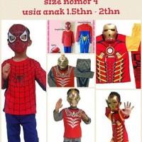 Jual Baju anak kostum topeng superhero spiderman, ultraman, Ironman, hulk.4 Murah