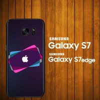harga Custom Case Samsung Galaxy S7, S7 Edge Apple Logo Glow Z3821 Hardcase Tokopedia.com