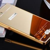 harga Mirror Case + Metal Bumper OPPO NEO 5 / A31 / A31T - Hardcase - GOLD Tokopedia.com