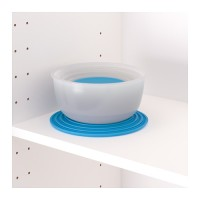 Jual IKEA REDA, Food container, set of 5, round transparent white, blue Murah