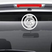 Aksesoris Mobil Stiker Inter Milan Siluet Logo Kaca Body Car Sticker