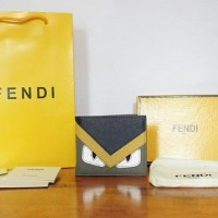 JUAL DOMPET FENDI MONSTER 3COLOR NAVY YELLOW WHITE MIRROR QUALITY