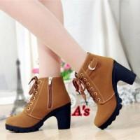 harga Sepatu Boot Heels 284 Tan Tokopedia.com